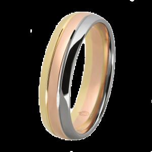 Obrączka w trzech kolorach (złoto żółte, białe i czerwone)