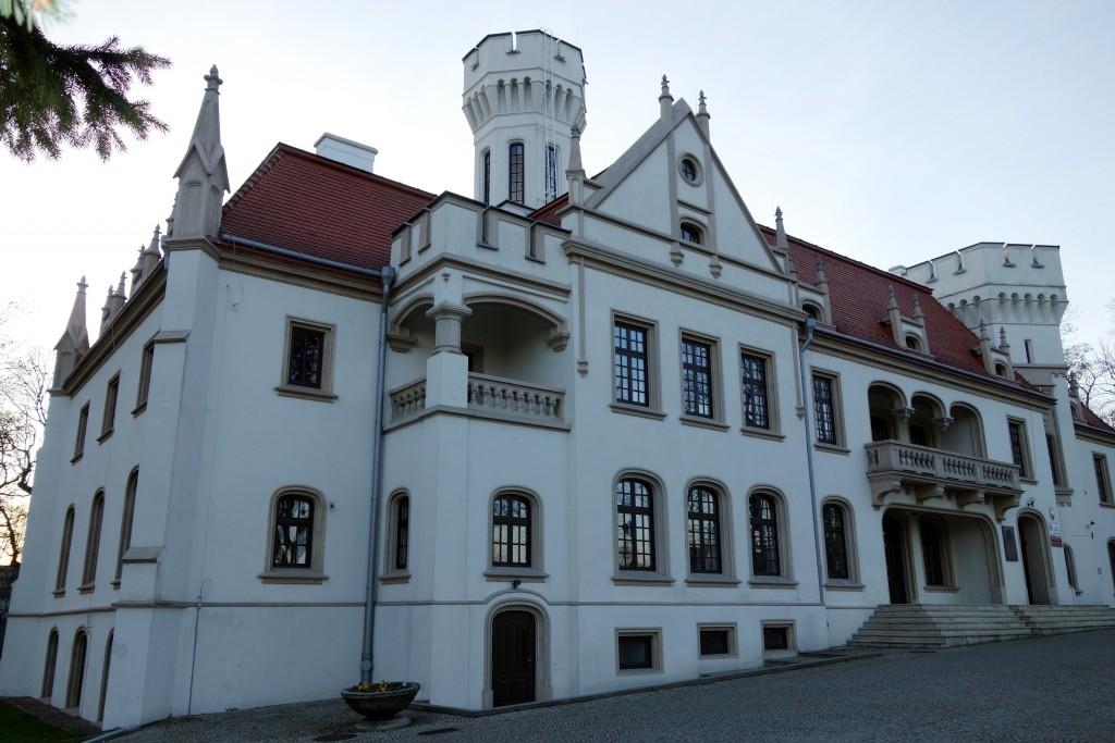 Pałac Sroczyńskich w Jaśle (strona frontowa)