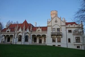 Neogotycki pałac Sroczyńskich z 1858 r. w Jaśle