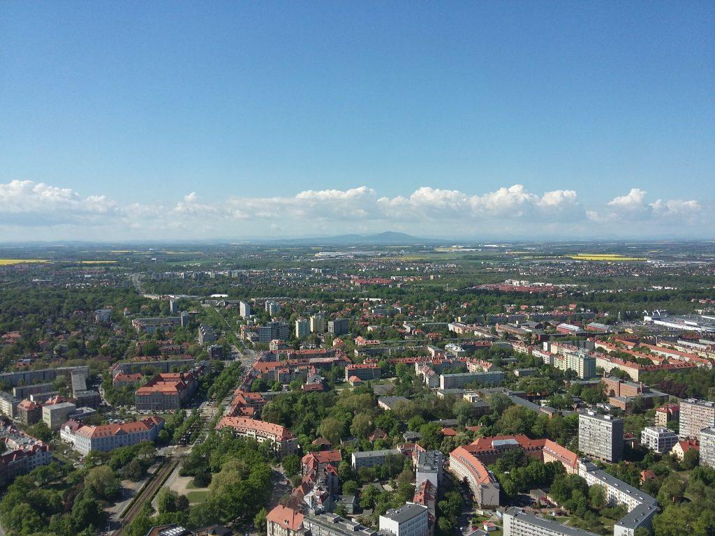 Wrocław z lotu ptaka, 7 maja 2015 r.